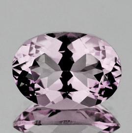 12.50x9.00 mm { 5.58 cts} Oval Brilliant Cut Best AAA Fire Natural Pink Kunzite (Flawless-VVS)