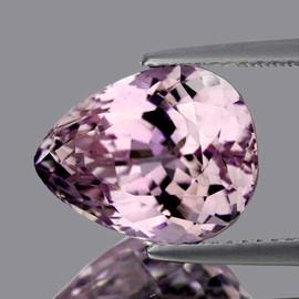 14x12.50 mm { 11.63 cts} Pear Brilliant Cut AAA Luster Natural Top Pink Kunzite {VVS}
