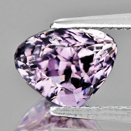 9x7 mm { 2.20 cts} Heart Brilliant Cut AAA Fire Natural Pink Kunzite {Flawless-VVS}