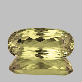 23x10 mm { 13.90 cts} Oval AAA Fire Natural Yellow Kunzite (Flawless-VVS)