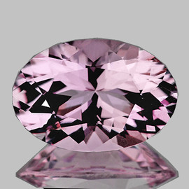 8.5x6 mm { 2.04 cts} Oval Brilliant Cut AAA Fire Natural Top Pink Kunzite (Flawless-VVS)