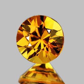4.20 mm 1 pcs Round Machine Brilliant Cut Intense AAA Yellow Sapphire Natural  {Flawless-VVS}--AAA Grade