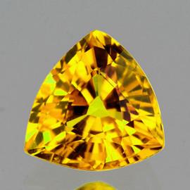 4.50 mm Trilliant AAA Fire AAA Yellow Sapphire Natural {Flawless-VVS}--AAA Grade