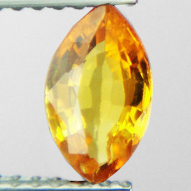 8x4.5mm {0.88 cts} Marquise AAA Fire Intense Yellow Sapphire Natural {Flawless-VVS}