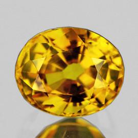 6.5x5.5 mm {1.03 cts} Oval AAA Fire AAA Golden Yellow Sapphire Natural {VVS}