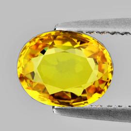 7x5.5 mm {1.03 cts} Natural Golden Yellow Sapphire {VVS}