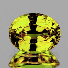 7x5.5 mm {1.05 cts}  Oval AAA Fire AAA Canary Yellow Sapphire Natural {Flawless-VVS}--AAA Grade