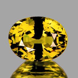 7x5.5 mm {1.39 cts}  Oval AAA Fire AAA Golden Yellow Sapphire Natural {Flawless-VVS}--AAA Grade