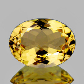 16x12 mm { 6.92 cts} Oval AAA Fire Natural Golden Yellow Citrine {Flawless-VVS1}