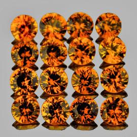 1.70 mm 40 pcs Round Machine Brilliant Cut Best AAA Mandarin Orange Spessartite Garnet Natural  {Flawless-VVS1}--AAA Grade