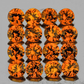 1.80 mm 30 pcs Round Machine Brilliant Cut Best AAA Mandarin Orange Spessartite Garnet Natural  {Flawless-VVS1}--AAA Grade