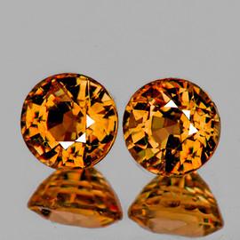 4.30 mm 2 pc Round AAA Fire Fanta Orange Spessartite Garnet Natural {Flawless-VVS}
