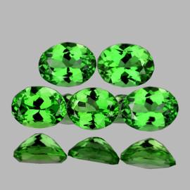 4.5x3.5 mm 5 pcs Oval AAA Fire AAA Chrome Green Tsavorite Garnet Natural {Flawless-VVS}