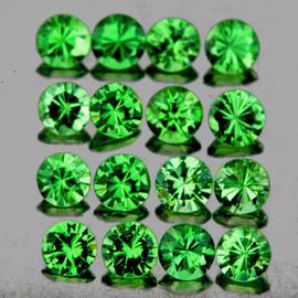 1.80 mm 35 pcs Round Diamond Cut AAA Chrome Green Tsavorite Garnet Natural (Flawless-VVS1)