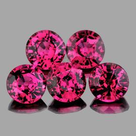 5.00 mm 5 pcs Round AAA Fire Orange Pink Rhodolite Garnet {Flawless-VVS}