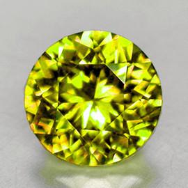 5.30 mm { 0.76 cts} Round AAA Fire Intense AAA Yellow Mali Garnet Natural {Flawless-VVS}--AAA Grade