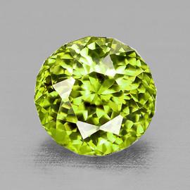 5.30 mm { 0.83 cts} Round AAA Fire AAA Green Yellow Mali Garnet Natural {Flawless-VVS}--AAA Grade