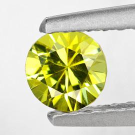 5.00 mm { 0.56 cts} Round Diamond Cut AAA Fire Vivid Yellow Mali Garnet Natural {VVS}