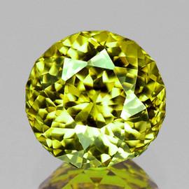 5.00 mm { 0.75 cts} Round AAA Fire AAA Vivid Yellow Mali Garnet Natural {Flawless-VVS}--AAA Grade