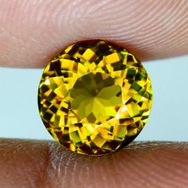 5.00 mm { 0.62 cts} Round AAA Fire AAA Golden Yellow Mali Garnet Natural {Flawless-VVS}--AAA Grade