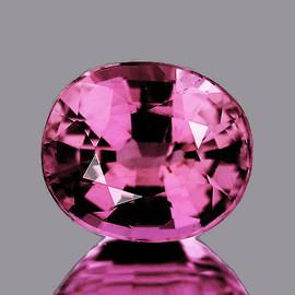 6x5 mm {1.00 cts} Oval AAA Fire Mahenge Pink Malaya Garnet Natural {Flawless-VVS}