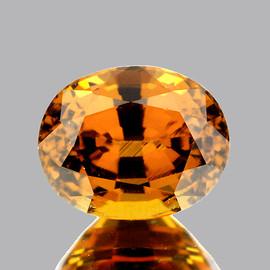 7x6 mm {1.41 cts} Oval AAA Fire AAA Golden Yellow Mali Garnet Natural {Flawless-VVS}--AAA Grade