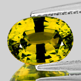 8x6 mm {1.38 cts} Oval AAA Fire AAA Vivid Yellow Mali Garnet Natural {VVS}--AAA Grade