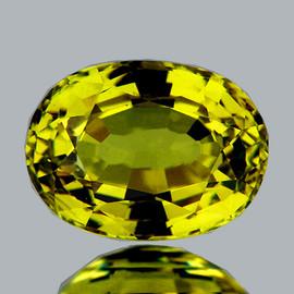8x6 mm {1.37 cts} Oval AAA Fire Intense Canary Yellow Mali Garnet Natural {Flawless-VVS}--AAA Grade