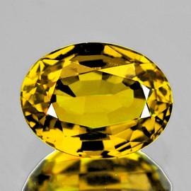 7.5x6 mm {1.36 cts} Oval Intense Yellow Mali Garnet Natural {Flawless-VVS}