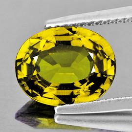 8x6 mm {1.33 cts} Oval AAA Fire AAA Vivid Yellow Mali Garnet Natural {Flawless-VVS}--AAA Grade