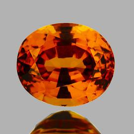 6.5x5.5 mm {1.18 cts} Oval AAA Fire Golden Yellow Mali Garnet Natural {Flawless-VVS}