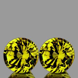 4.50 mm 2 pcs {1.00 cts} Round AAA Fire AAA Vivid Yellow Mali Garnet Natural {Flawless-VVS}--AAA Grade