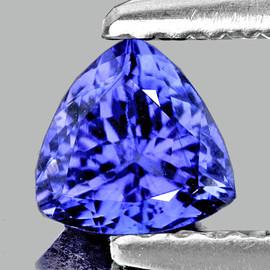 5.50 mm {0.61 cts} Trilliant AAA Fire AAA Purple Blue Tanzanite Natural {Flawless-VVS}--AAA Grade
