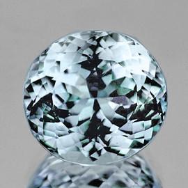 10x9.5 mm {3.77 cts } Semi Round Brilliant Cut Best AAA Fire Natural Blue Aquamarine Natural {Flawless-VVS1}