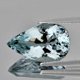 11x6.5 mm {2.14 cts} Pear Brilliant Cut Best AAA Fire Natural Sky Blue Aquamarine {Flawless-VVS}