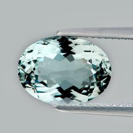 9.5x7 mm { 1.92 cts} Oval Brilliant Cut AAA Fire Natural Sky Blue Aquamarine {Flawless-VVS}