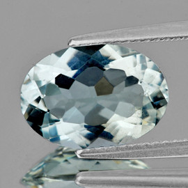 11x8.5 mm { 2.95 cts} Oval Brilliant Cut AAA Fire Natural Soft Blue Aquamarine {Flawless-VVS}