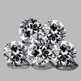 1.70 mm 5 pcs Round COLOR D-F White Diamond Natural {VVS} AAA Grade