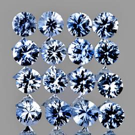2.20 mm 20 pcs Round Machine Cut Soft Ceylon Blue Sapphire Natural {Flawless-VVS}
