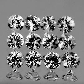1.20 mm 12 pcs Round Color D-F White Diamond Natural {VVS} AAA Grade