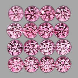 1.80 mm 30 pcs Round Machine Brilliant Cut Best AAA Fire Top Pink Sapphire Natural {Flawless-VVS}