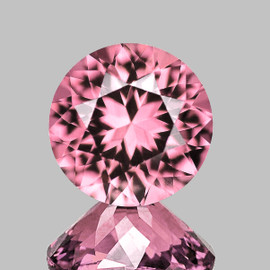 7.00 mm Round {1.14 cts} Best AAA Fire AAA Pink Tourmaline Natural {Flawless-VVS}