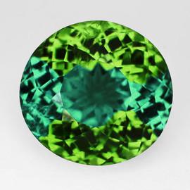 8x7.5 mm {2.23 cts} Oval AAA Fire Intense Bluish Green Tourmaline Natural Mozambique {VVS}--AAA Grade