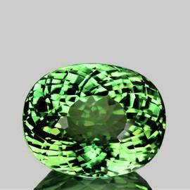 9x7 mm {2.80 cts} Oval AAA Fire Best AAA Vivid Green Tourmaline Natural Mozambique {VVS}--AAA Grade