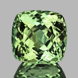 7.00 mm {1.90 cts} Cushion AAA Fire Vivid Canary Green Tourmaline Natural {VVS}--AAA Grade