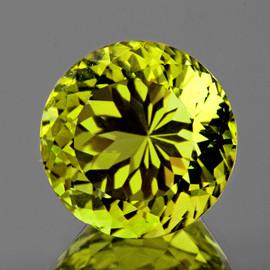 6.70 mm {1.16 cts } Round Brilliant Cut Best AAA Fire Green Gold Lemon Quartz Natural {Flawless-VVS}