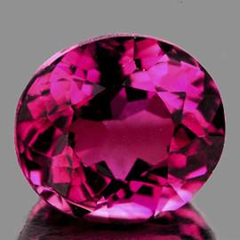 8x7 mm {2.03 cts} Oval Portuguese Cut AAA Fire Natural Pink Tourmaline {Flawless-VVS}