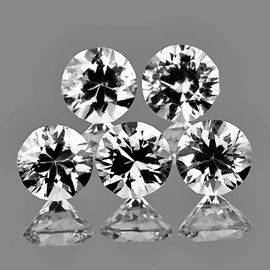 4.30 mm 5 pcs Round Brilliant Cut AAA Fire Diamond White Zircon Natural {Flawless-VVS1}