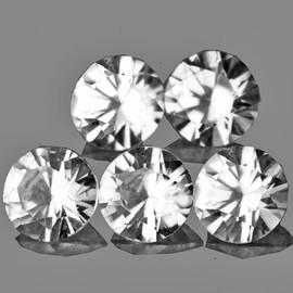 4.20 mm 5 pcs Round Brilliant Cut AAA Fire Diamond White Zircon Natural {Flawless-VVS1}