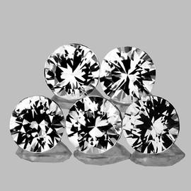 3.80 mm 5 pcs Round Brilliant Cut AAA Fire Diamond White Zircon Natural {Flawless-VVS1}